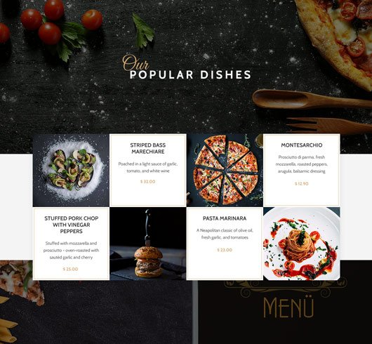 Cheap Website Design Service Website Themes Restaurants & Food