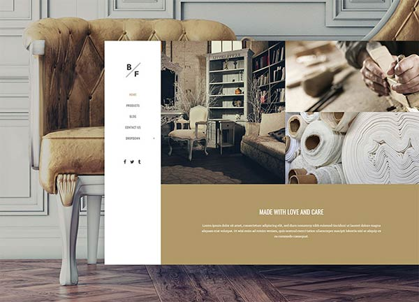 Furniture Portfolio Website