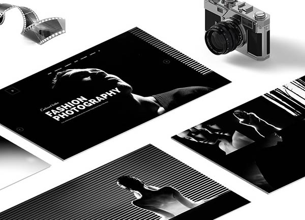 Dark Parallax Portfolio Website