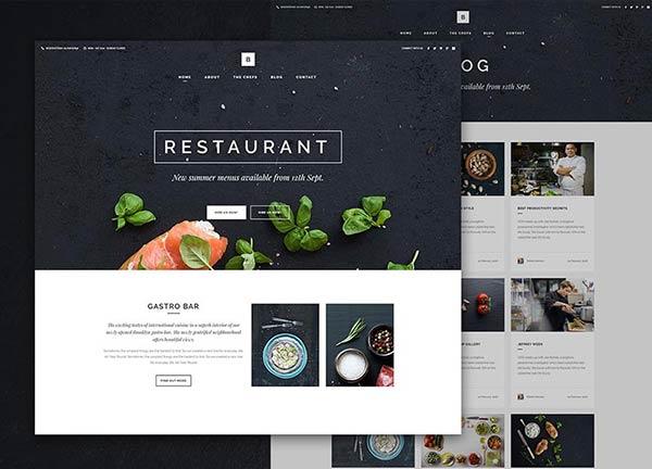 Modern Restaurant Business Website