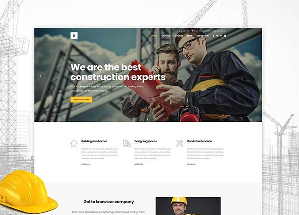 Construction Company Business Website