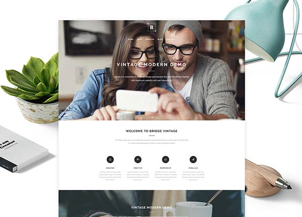 Creative Vintage Business Website