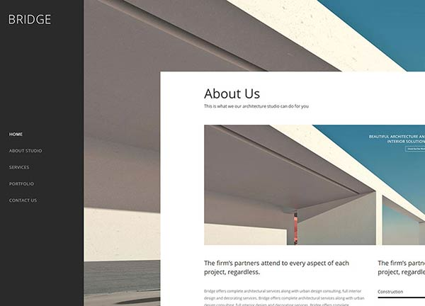 Architect Studio Portfolio Website