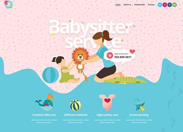 Babysitter Business Website