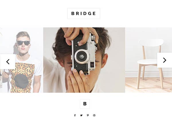 Photo Slider Portfolio Website