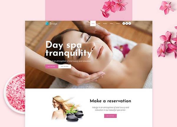 Spa Center Business Website