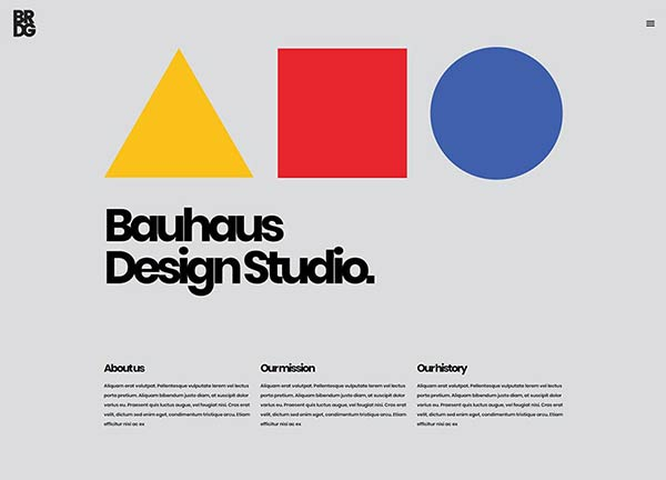 Bauhaus Portfolio Website
