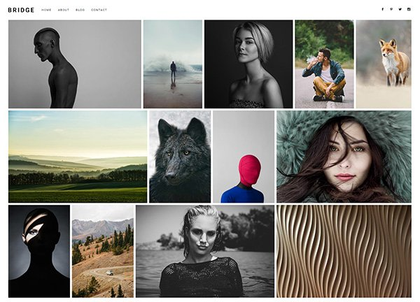 Photography Tiles Portfolio Website
