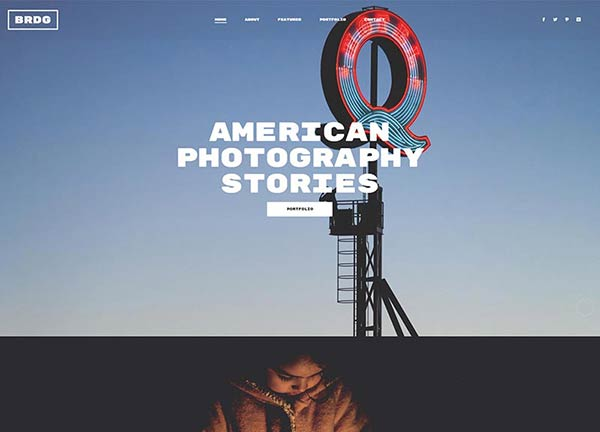 Photography Parallax Portfolio Website