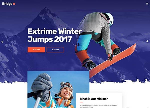 Winter Sports Business Website