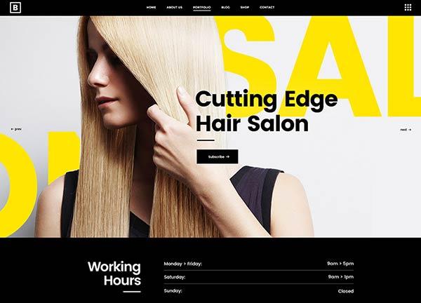 Hair Salon Business Website