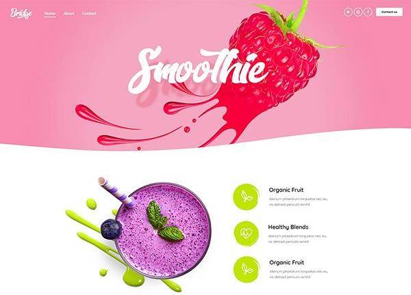 Smoothie Bar Business Website