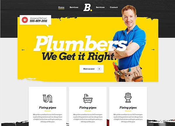 Plumber Business Website
