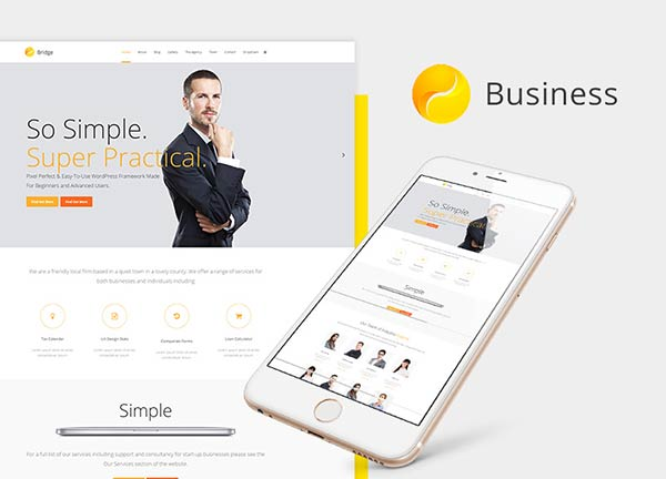 Contemporary Company Business Website
