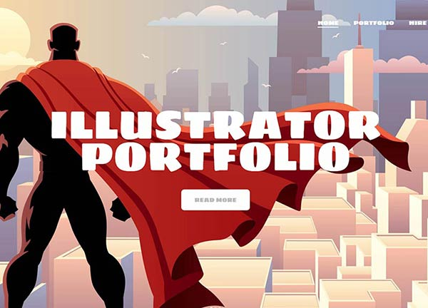 Illustrator Portfolio Website