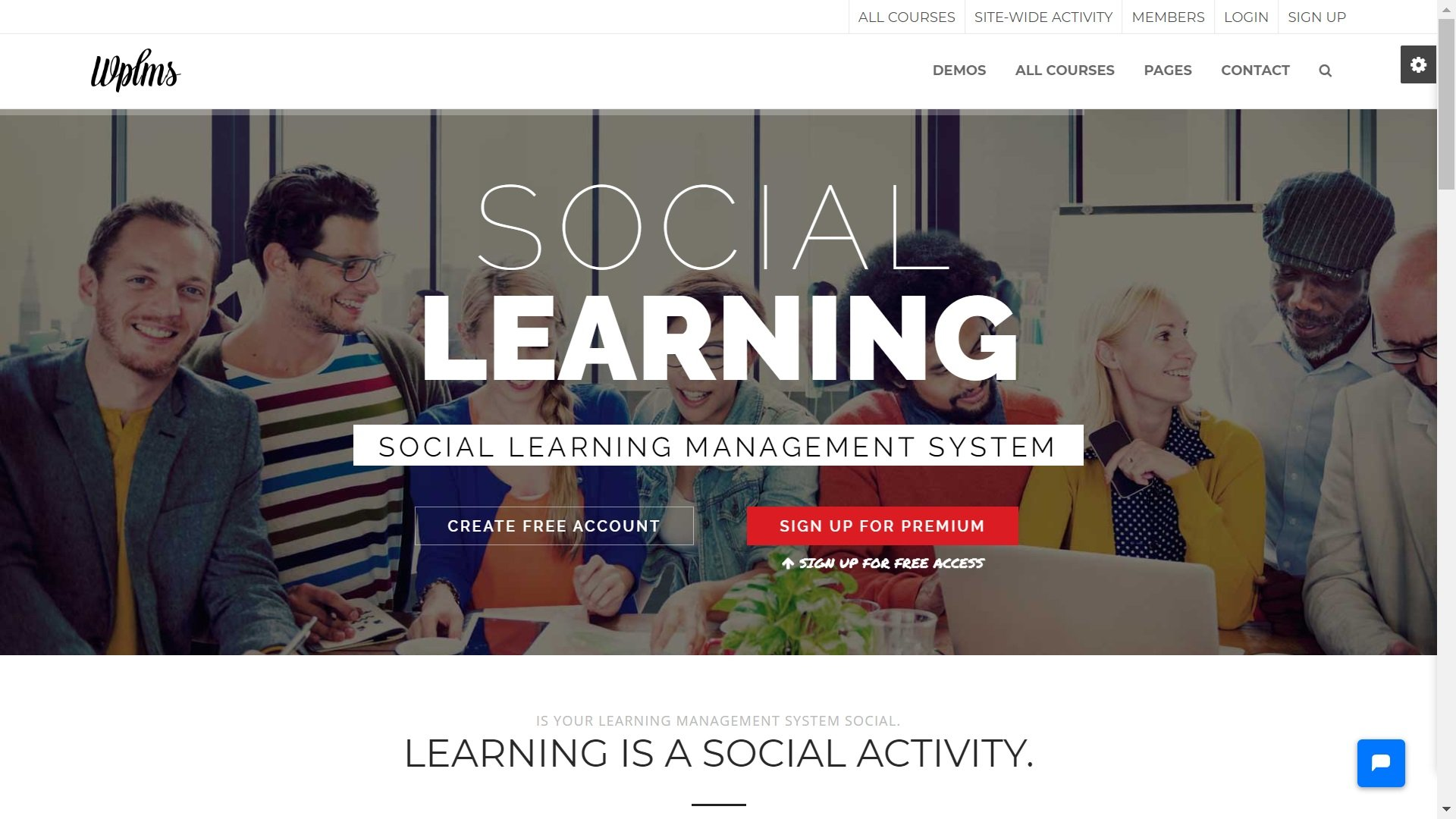Social Learning Management System