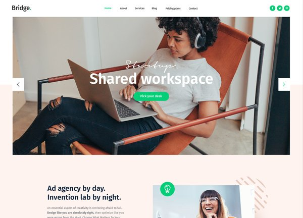 Shared Workspace Business Website
