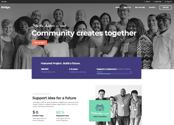 Fundraising Business Website