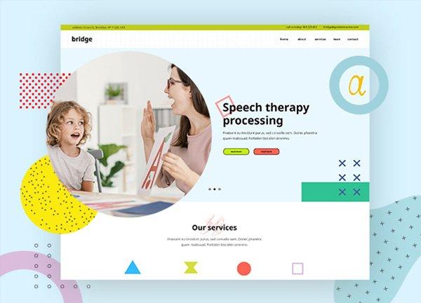 Speech Therapist Business Website