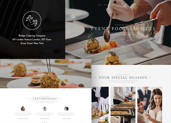 Catering Service Business Website