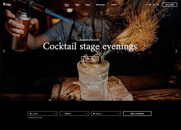 Cocktail Bar Business Website