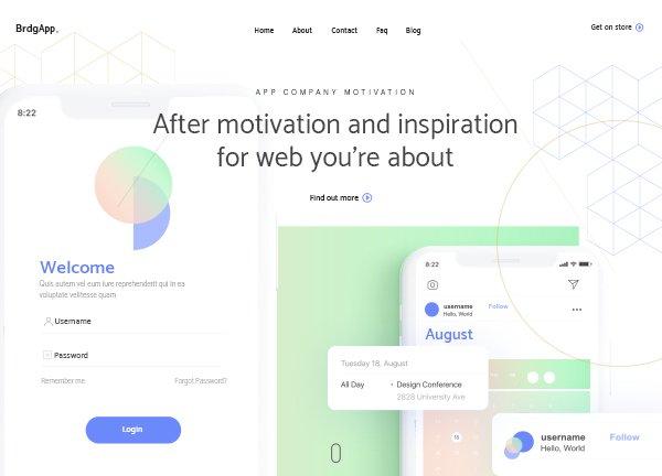 App Landing Creative Website