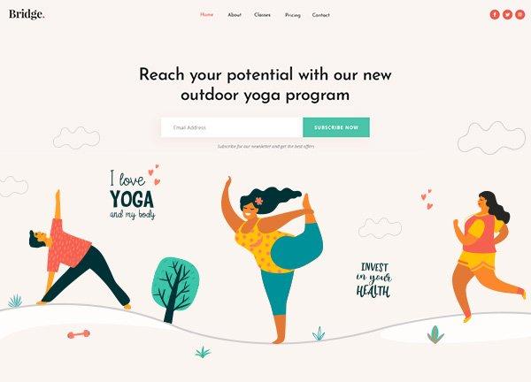 Yoga Pilates Business Website