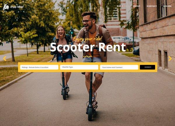 eScooter Rental Business Website