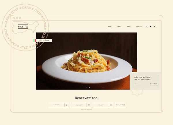Pasta Business Website