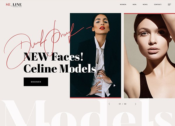 Modeling Agency Business Website