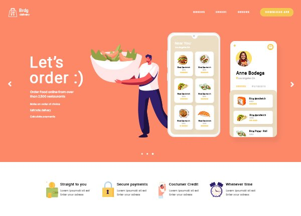 Food Delivery Business Website