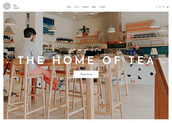 Tea House Online Store