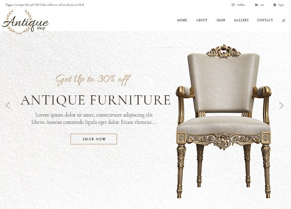 Antique Online Store