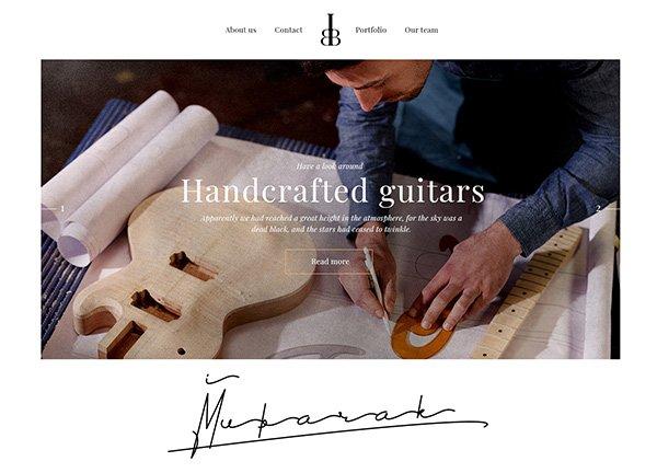 Guitar Making Business Website