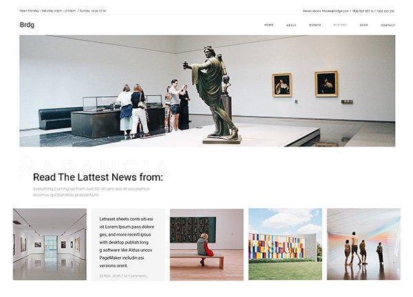 Art Museum Business Website