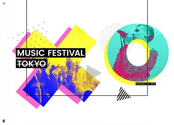 Music Festival Creative Website