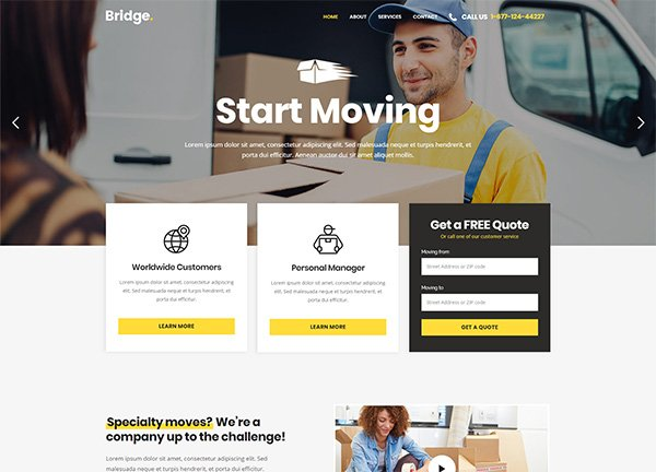 Moving Company Business Website