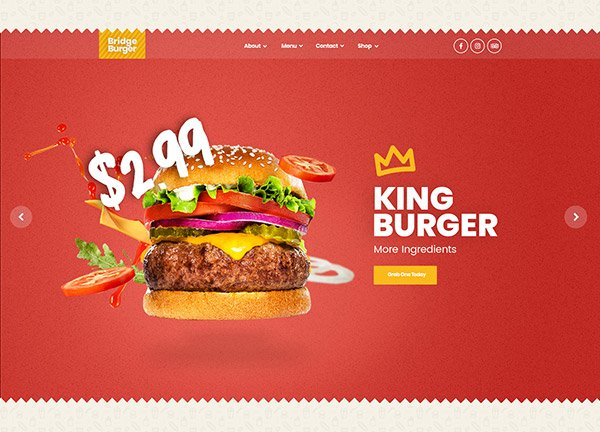 Burger Place Business Website