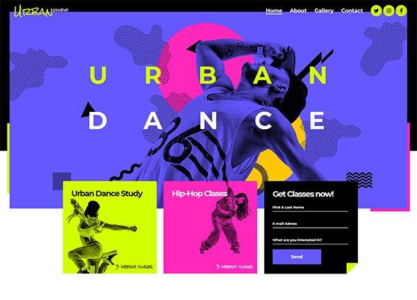 Urban Dance Creative Website