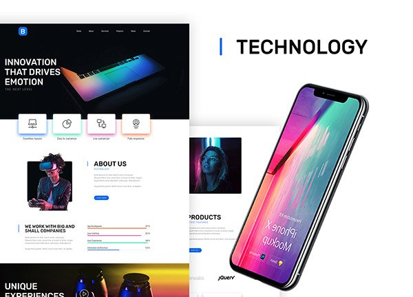 Technology Business Website