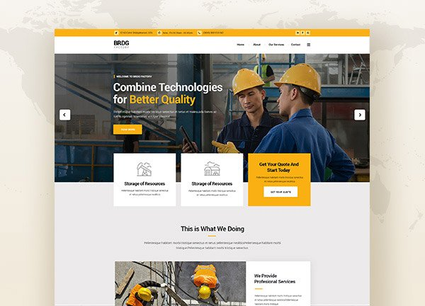 Factory Business Website