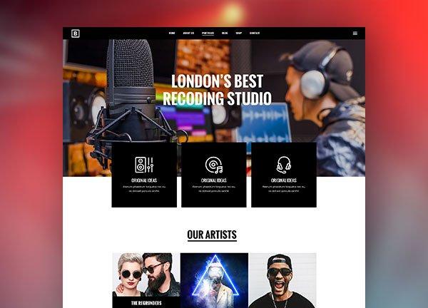 Recording Studio Business Website