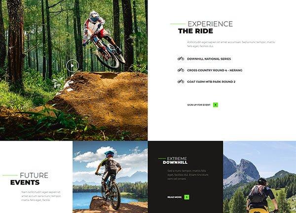 Mountain Biking Business Website