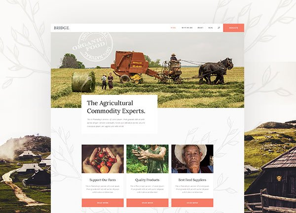 Agriculture Business Website