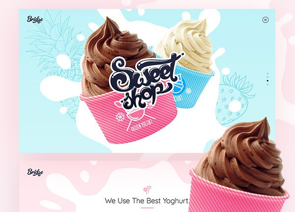 Frozen Yogurt Business Website