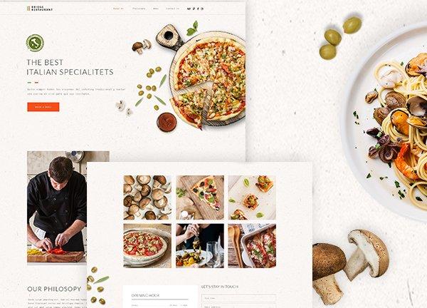 Italian Restaurant Business Website