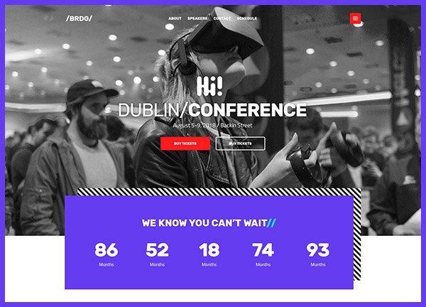 IT conference Business Website
