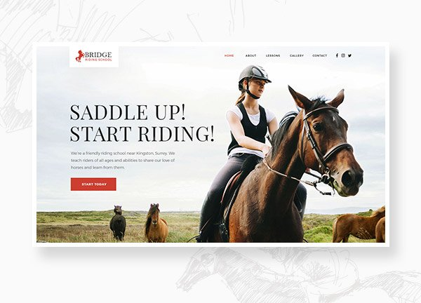 Horse Riding Business Website