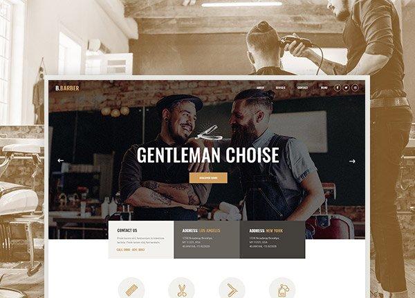 Barber Shop Business Website