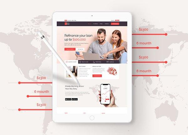 Loan Company Business Website